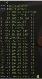 Scapy traceroute