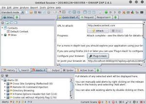 OWASP ZAP ( Open Web Application Security Project Zed attack