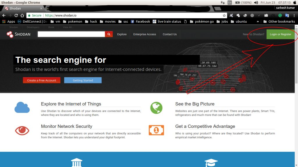 shodan IoT search engine