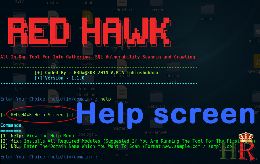 RED HAWK: Multiple Scanning And Attack Vector | HackeRoyale